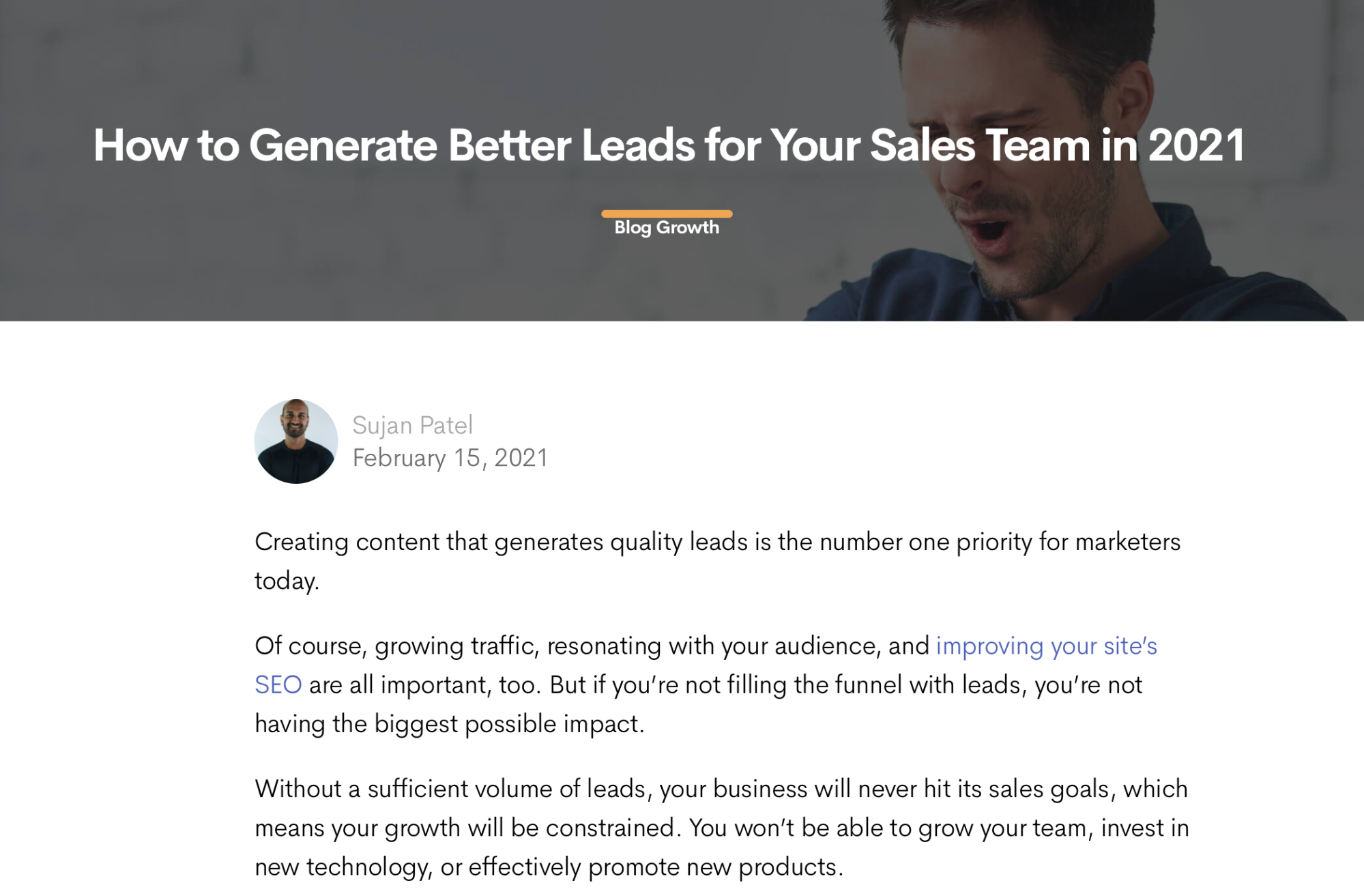 Long-form content marketing in the form of a blog from wordable.io
