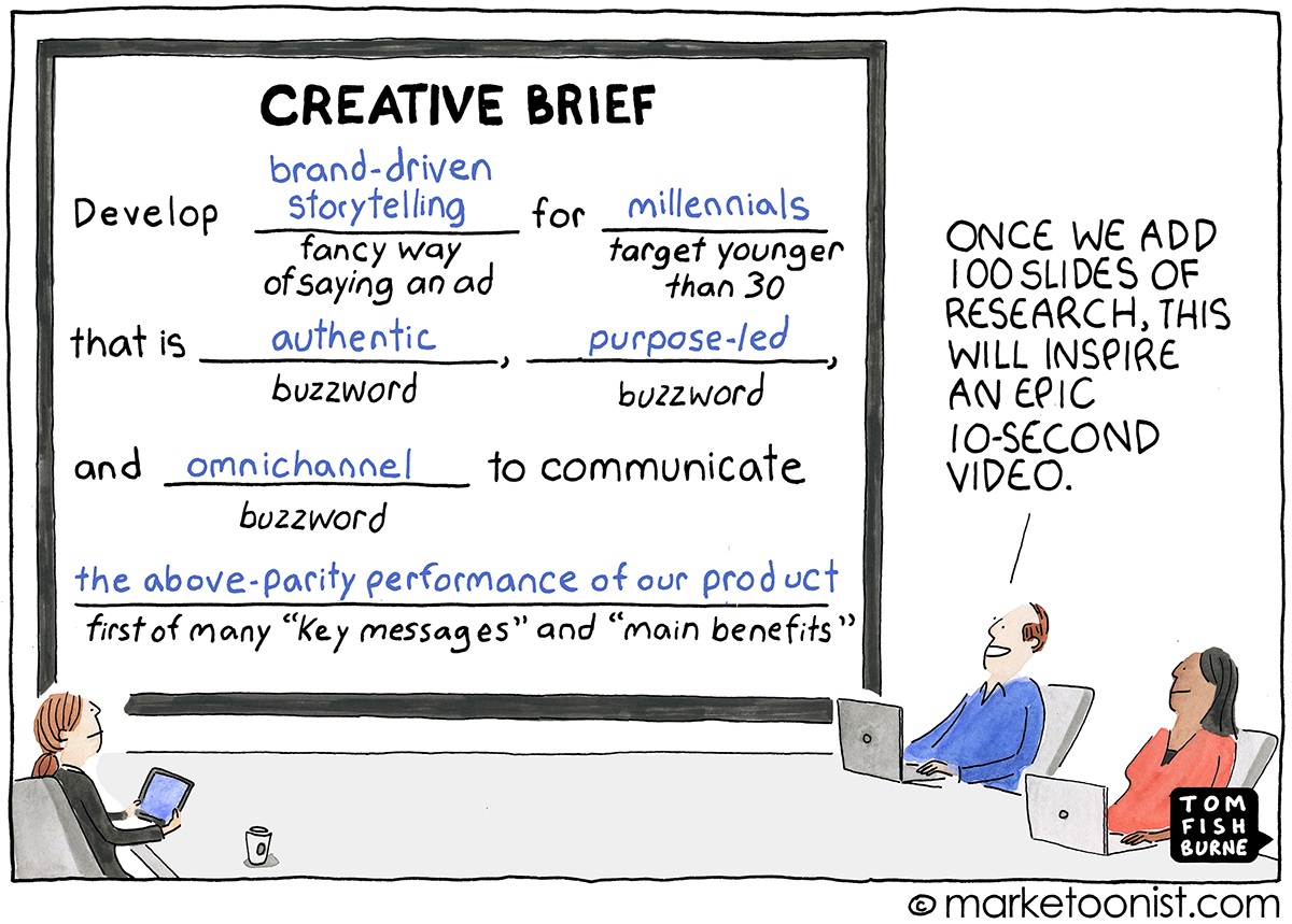 image showing a creative brief in creating a marketing video